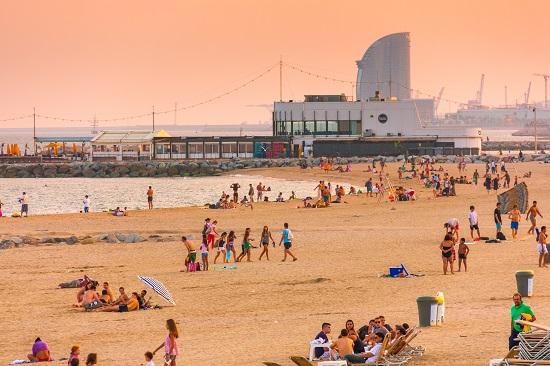 Barcelona Marbella Beach in Spain