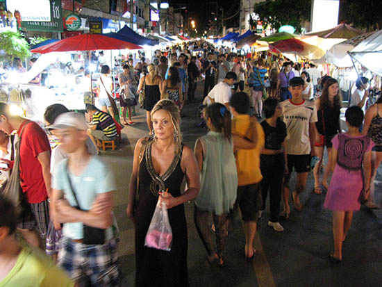 Sunday Walking Street Market, Chiang Mai.