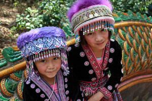 Hill tribe sisters, Chiang Mai. Guide for backpackers