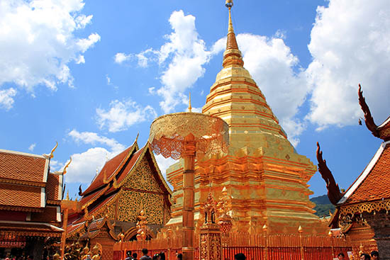 Golden mount at Wat Phra That Doi Suthep.