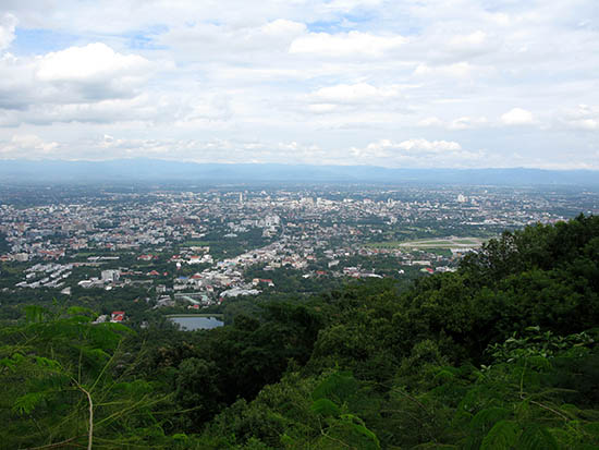 View of Chiang mai from Doi Suthep Mountain.