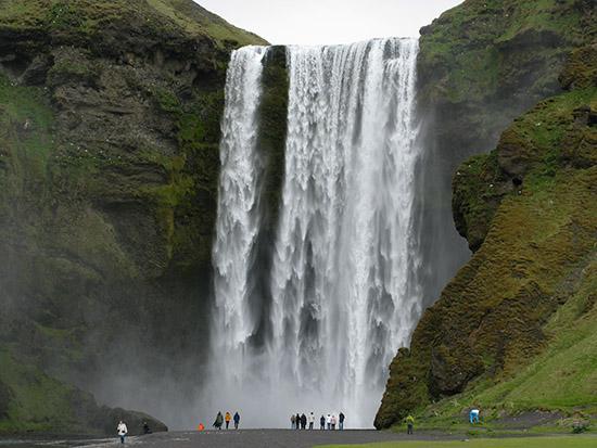 Skógafoss Falls, Iceland.
