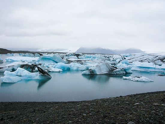 The Jökulsárlon lagoon, Iceland.