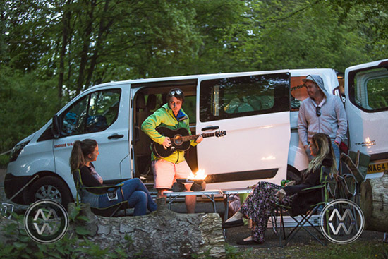 We found a hidden corner on the mountaintop, There were no campgrounds and we had driven too far, so we pulled out the bbq and guitar and called it a night.