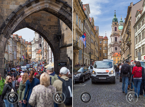 A very crowded Prague.