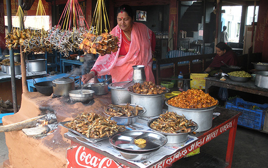 Nepal street food for backpackers
