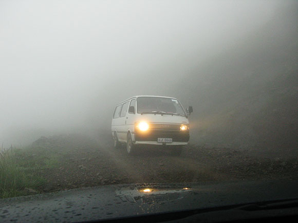 Fearless Taxi Drivers in Sani Pass, Lesotho.