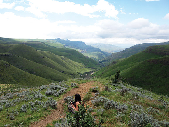 The incredible view on the way up to Sani Pass, Lesotho, Africa.