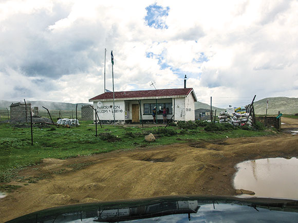 Backpacking to Sani Pass and the Lesotho border post.