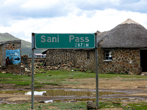 Backpacking to Sani Pass, Lesotho, Africa.