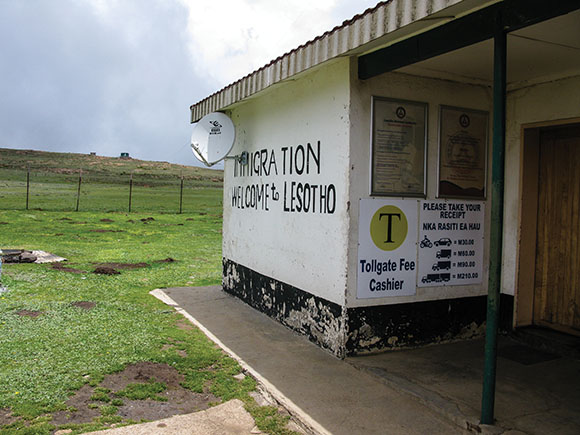 Lesotho border post, Sani Pass, Africa.
