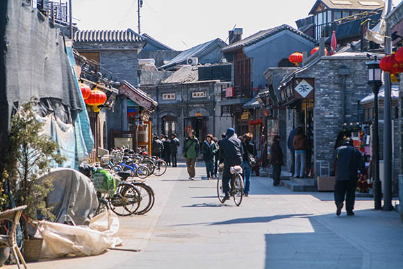 Hutong, Beijing, China.