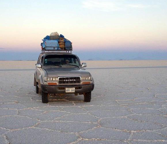 Navigating the desert.
