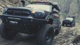 Climbing Morrison Jeep Trail in Wyoming with Toyota Tacomas